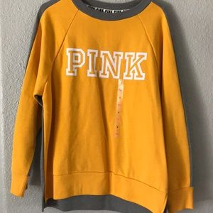 brand new yellow and gray sweater